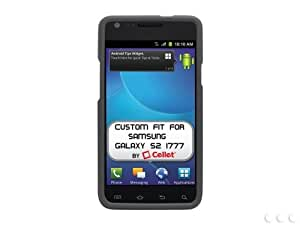 Cellet Black Rubberized Proguard For Samsung Galaxy S2 i777 AT&T