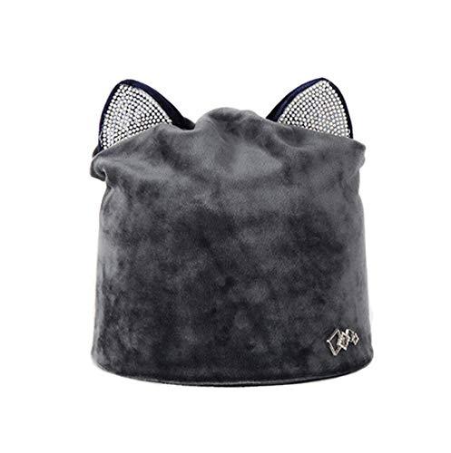 Foncé Bonnet Unique Acvip Taille Femme Gris OwTART