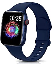 TreasureMax Sport Band Compatible with Apple Watch Bands 38mm 40mm 42mm 44mm, Soft Silicone Replacement Strap Compatible for Apple Watch Series 6 5 4 3 2 1 SE Men Women