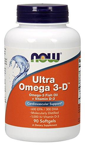 NOW Ultra Omega 3 D Softgels
