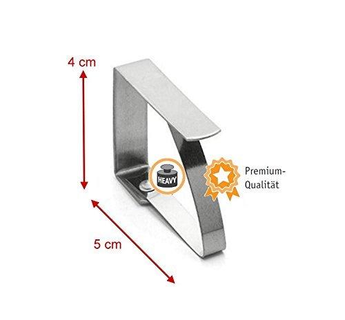 Kerafactum/® clip nappe clip nappe clip en acier inoxydable pour la fixation de la nappe 8