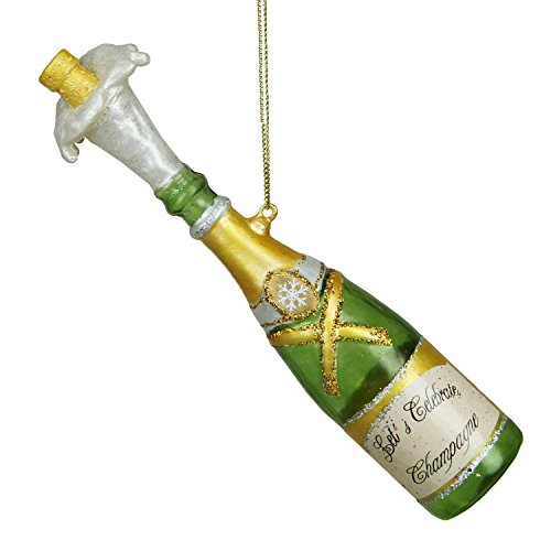 Northlight Happy Hour Popped Cork Champagne Bottle Christmas Ornament, 7