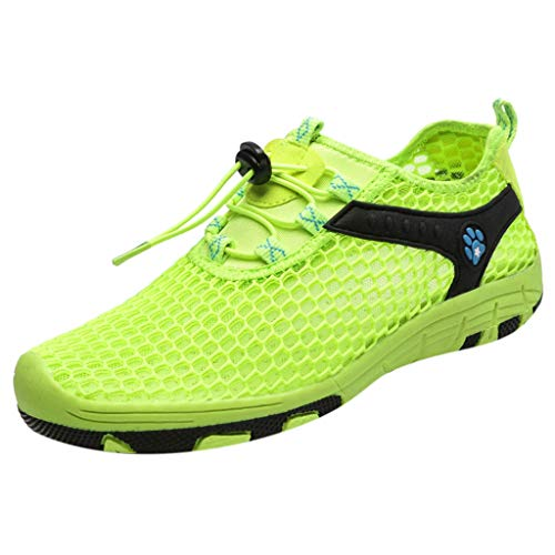 iHPH7 Shoes Water Quick-Dry Barefoot for Outdoor Beach Swim Surf Yoga Exercise New Mesh Shoes Leisure Sports Shoes are Breathable in Summer Shoe Men (42,Green)]()