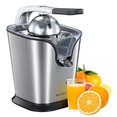 Secura Upgrade Electric Citrus Juicer Press 160-Watt Stainless Steel Orange Juice Squeezer
