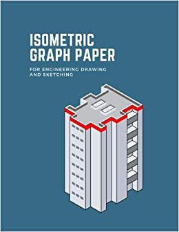 isometric graph paper for engineering drawing and sketching grid of