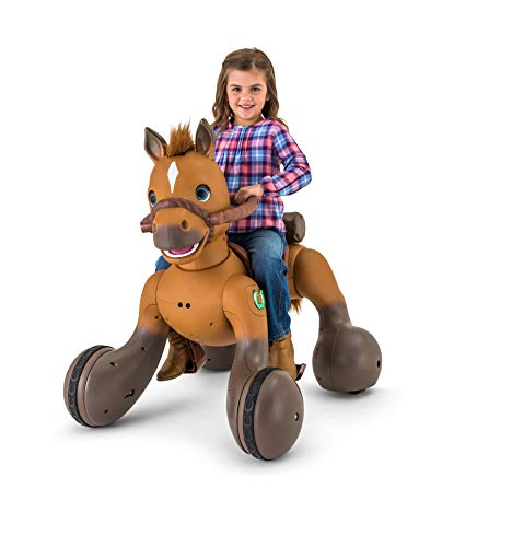 Adorable,Fun and Exciting 12-Volt Rideamals Scout Pony Interactive Ride-On Toy,with Over 100 Unique Sounds and Movements,Including a Special Dance (12-Volt, Rideamals Only)