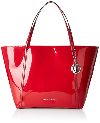Tote Medium Armani Rosso Donna Borse Shopping Exchange Bag red r550wWXRq