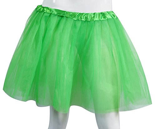 Big Girls Tutu Skirt Classic 3 Layered Tulle Princess Ballet Dance Running Party Costume Green