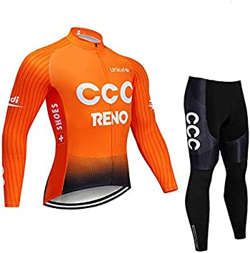 TOPBIKEB Ciclismo Maillot Hombre Mangas Largas, Conjunto ...