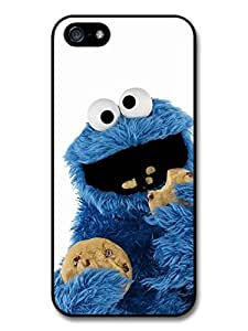 Cookie Monster Muppet Eating Biscuits with White Background case for iPhone 5 5S by icecream design