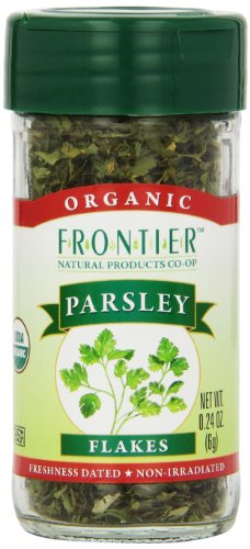 Frontier Organic Parsley Flakes, 0.24-Ounce Container (Pack of 6) by Frontier
