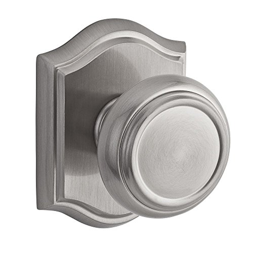 (Baldwin PVTRATAR150 Reserve Privacy Traditional with Traditional Arch Rose in Satin Nickel Finish)