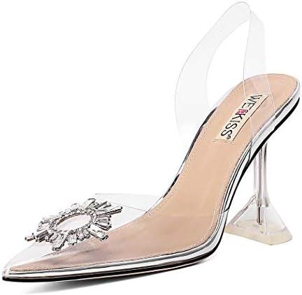 Women Sandals Clear High Heels Sandals