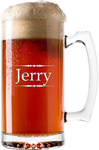 (Personalized Beer Mug with Custom Laser Engraving, Two Size Options - BG04 )
