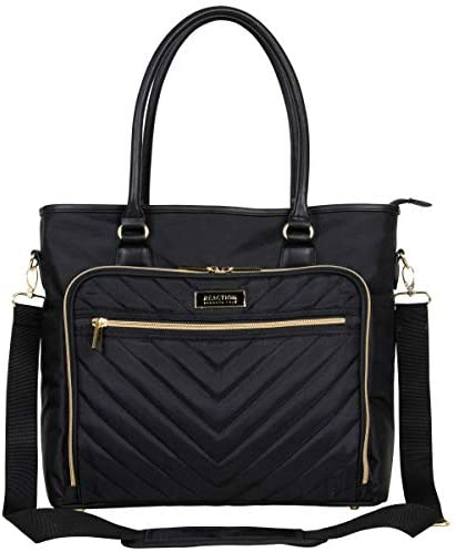"Kenneth Cole Reaction Women's Chelsea Chevron Quilted 15"" Laptop & Tablet Business Computer Tote Bag"