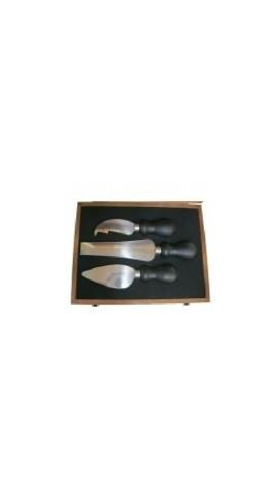 PRESENTATION GIFT CASE - CHEESE KNIVES IN A HARDWOOD CASE