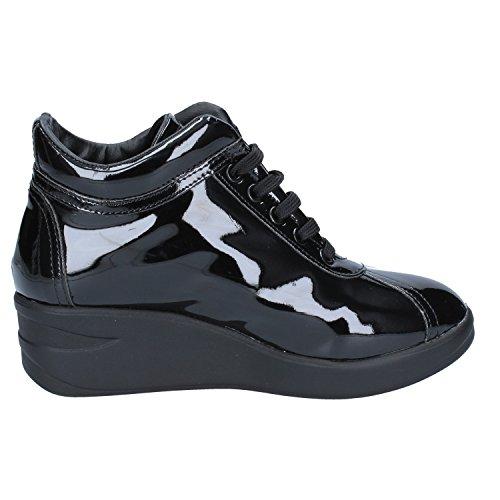Pelle Verniciata Nero Donna Albano Sneaker Z87g0YUT