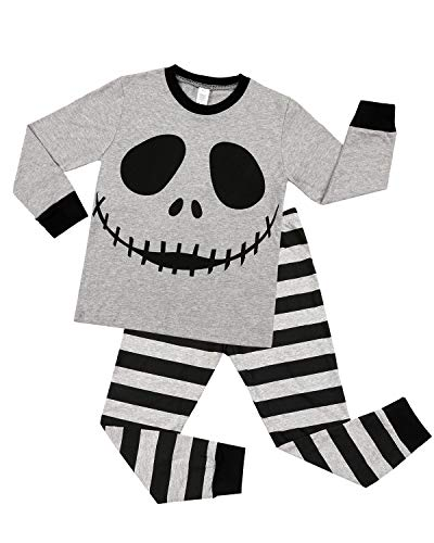 ALove Striped Pajamas for Boy Halloween Ghost Sleepwear Long Sleeve Pants Set 4T