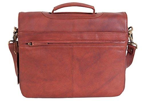 Visconti Herren Aktentasche Schultertasche Mittelgroß Schwarz/Braun Leder Laptop Tasche Business Alfie 659 Braun D2jl4MWUnp