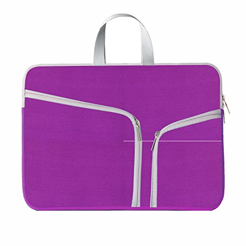 HESTECH-Neoprene-Soft-Sleeve-Case-for-MacBook-12-inch-MacBook-Air-116-and-Laptop-up-to-12-Ultrabook-Chromebook-Bag-Cover---Royal-Purple