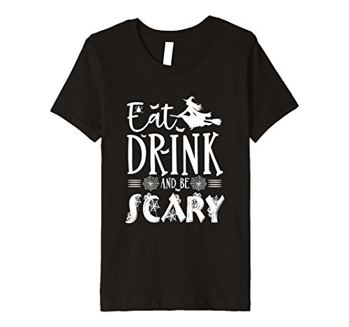 Kids Eat Drink And Be Scary-Halloween Witch T-Shirt Costumes 4 (Scaryhalloween Costumes)