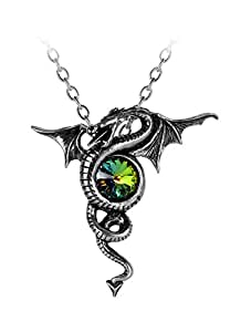 Oficial Gothic Alchemy Rainbow Anguis Colgante, Collar con Cadena Aeternus