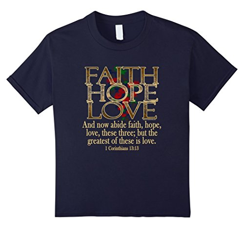 Faith Hope Love Women's Bible Christian T-Shirt