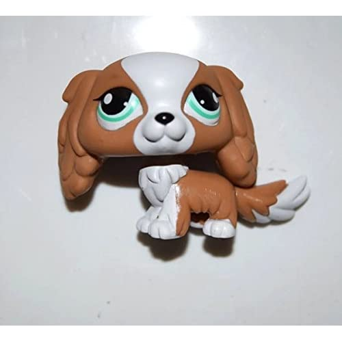 Deejoe Pet Shop Animal Brown White Cyan Eyes King Charles Spaniel