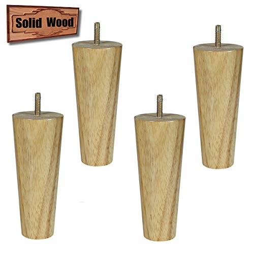 (Furniture Legs Replacement Wood Sofa Couch Legs Set of 4 (6 inch)