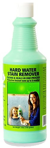 Bio Clean: Eco Friendly Hard Water Stain Remover (20oz Large)- Our Professional Cleaner Removes Tuff Water Stains From Shower doors, Windshields, Windows, Chrome, Tiles, Toilets, Granite, steel - Spot Glass