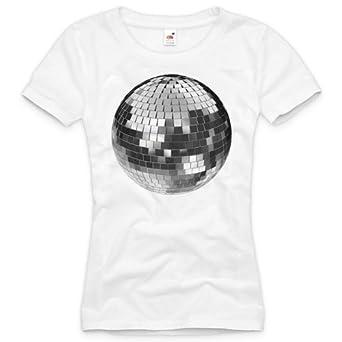 style3 Boule Miroir T-Shirt Femme Party House