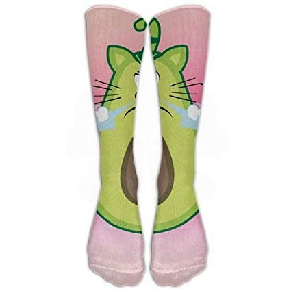 Girls Classics One Size cálido invierno Knee High Calcetines Cute Lovely Funny aguacate Cat Great Quality