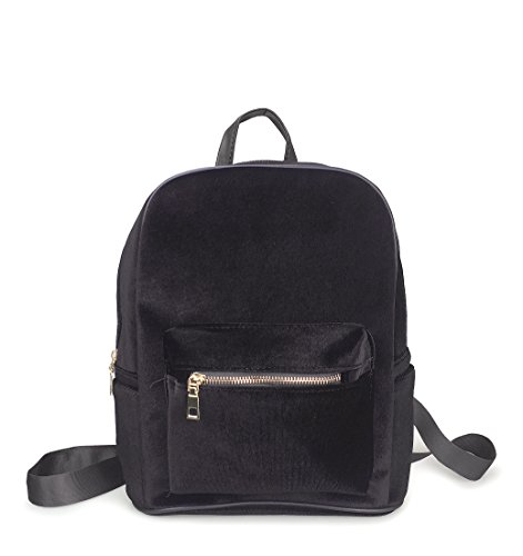 Hoxis Shining Velvet Fabric Backpack Bling Glitter Shoulder Bags - Small Size