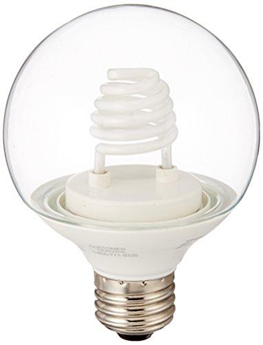 - TCP 8G2503CL Cold Cathode Decorative G25-15 Watt eq. (only 3w used) Soft White (2700K) Medium Base Clear Globe Light Bulb (120 Lumens)