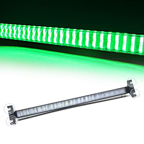 12V Emergency Car Strobe Lights 80 LED Hazard Warning Beacon Green Lights for Vehicle Interior Roof Dashboard Visor Front Windshield with Suction Cup