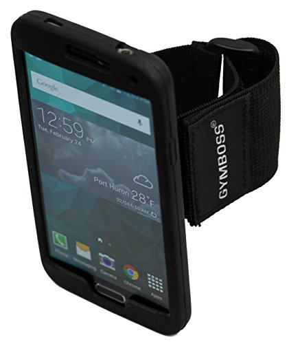 Gymboss Sport Armband for Galaxy S5 - BLACK
