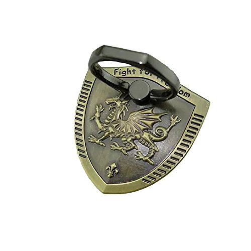 - Universal Phone Ring Bracket holder ,UCLL Unique Metal Shield Design Finger Grip Stand Holder Ring Phone Ring Grip Creative Gift (green copper)