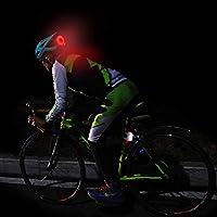 Bike Rear Tail Back Light LED Bicycle Helmet Backpack Sport Lamp Red Green Blue