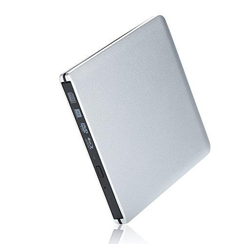 External Blu Ray DVD Drive Burner USB 3.0 Blu Ray Player for Laptop Macbook Pro Air- Portable External USB BD CD/DVD Drive for Apple Mac Windows 10/8/7