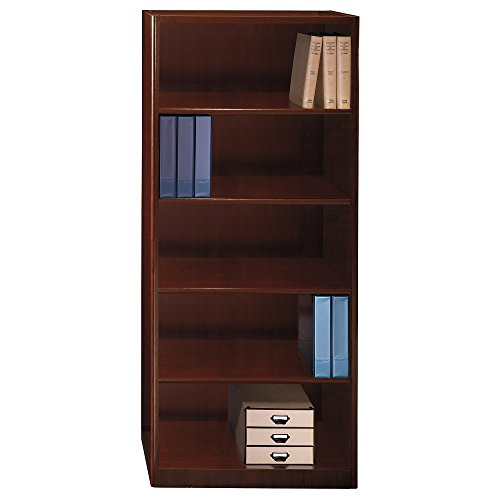 (Bush Business Furniture Quantum Collection Harvest Cherry 30W 5-Shelf Bookcase)