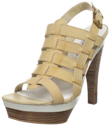 Naughty Monkey Women's Crush Platform Sandal,Tan,8 M US