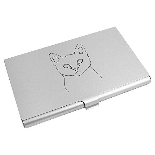 Credit CH00001333 Outline' Business Azeeda Wallet 'Cat Holder Card Card 8XqwOag