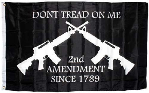 ALBATROS 3 ft x 5 ft Dont Tread on Me Second Amendment NRA M4 Rifle Flag Protest Banner Gun for Home and Parades, Official Party, All Weather Indoors Outdoors