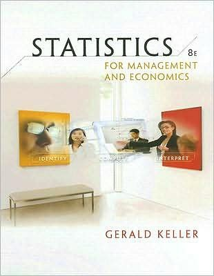 Statistics for Management and Economics (text only)8th (Eighth) edition by G. Keller