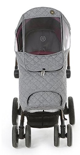 Weathershield Quilted Baby Stroller Cover for Rain + Snow + Wind, Type S