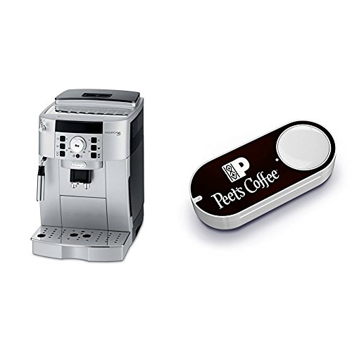 DeLonghi ECAM22110SB Compact Automatic Cappuccino, Latte and Espresso Machine & Peet's Coffee Dash Button by
