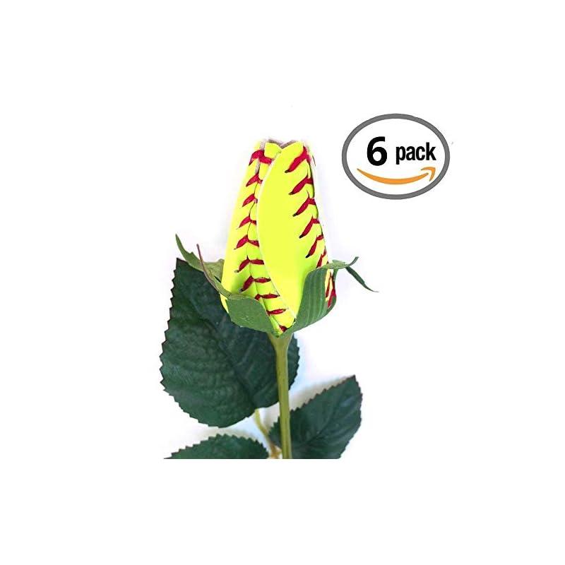 silk flower arrangements softball rose (pack of 6)