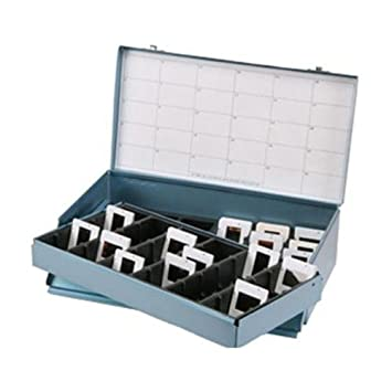 logan electric slide file archival double decker metal storage box holds 2x2 mounted slides