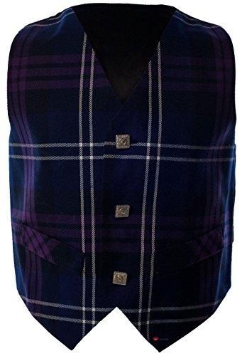 Boys Waistcoat, Silk Back Adjustable buckle Heritage of Scotland Tartan 5 year ()