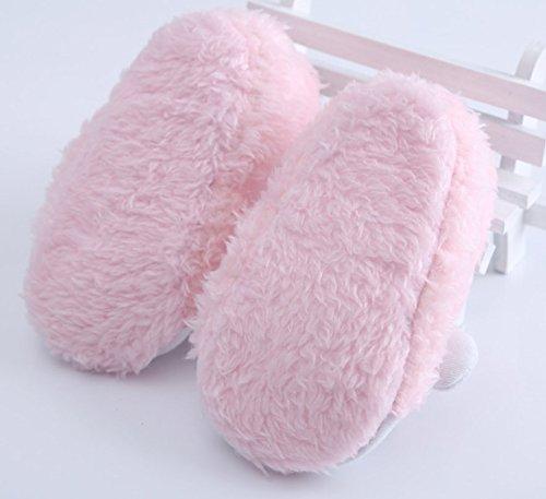 tfxwerws bebé infantil diseño de oveja botas antideslizante caliente suave zapatillas zapatos de cuna de bebé